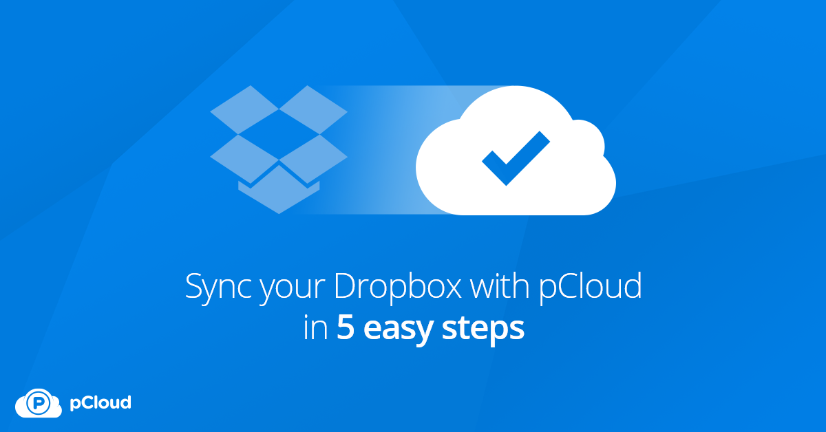 Sync Dropbox with pCloud