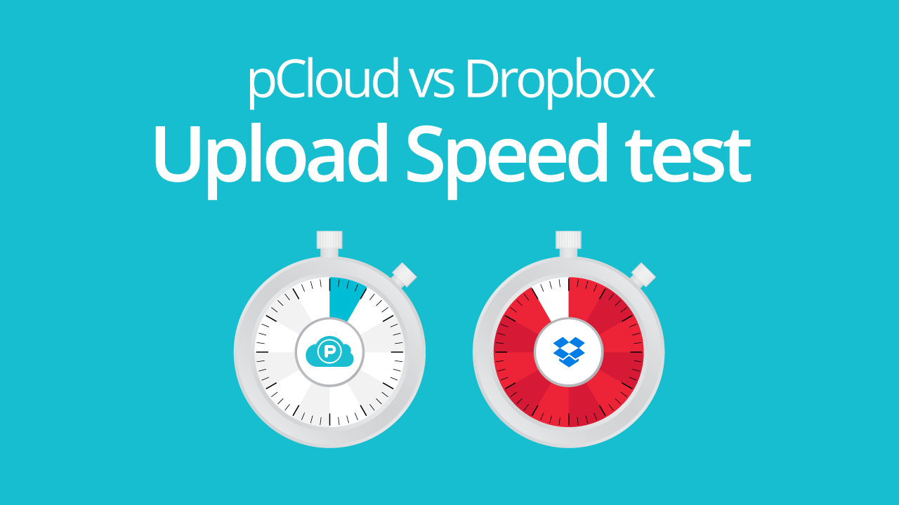 pCloud vs. Dropbox Speed test
