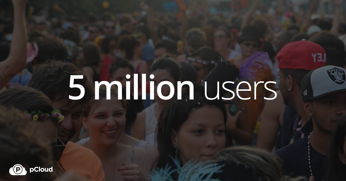 5 Million pCloud Users