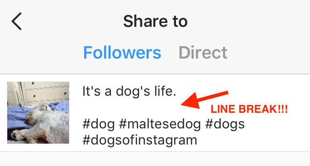 instagram-line-break
