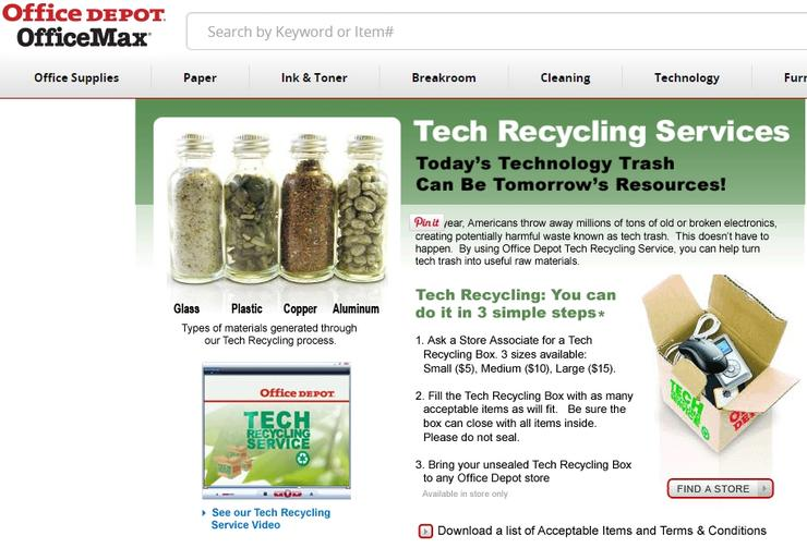 recycle - office depot