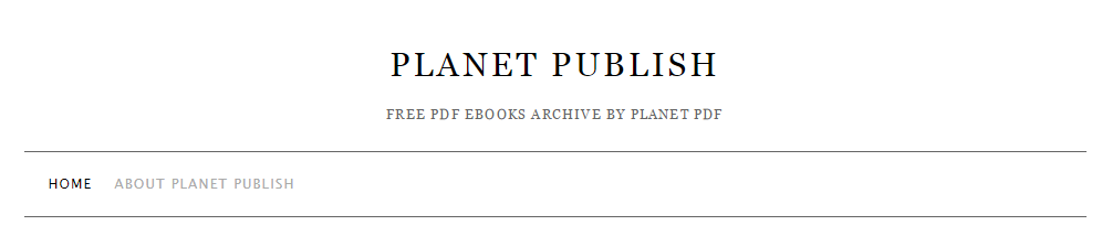 Planet Publish free pdf books