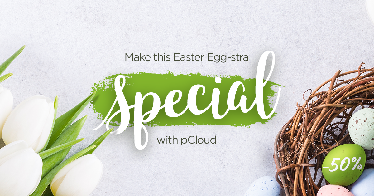 Start the Easter hunt: Grab pCloud at an egg-cellent price