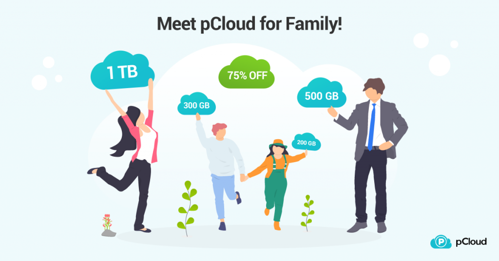 pCloud for Family - up to 2 TB shareable storage